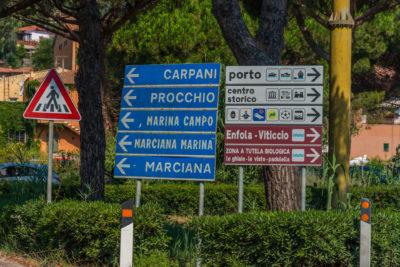 Anfahrt in den Hafen von Portoferraio