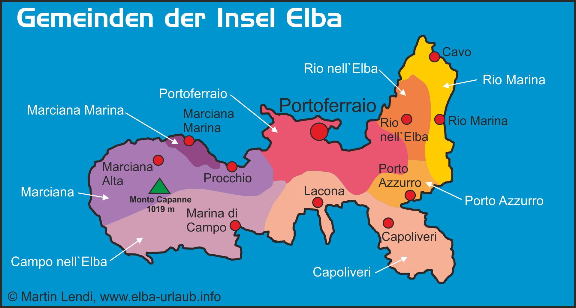 Elba Karte.Elba Auf Einen Blick Insel Elba Der Grosse Reiseführer