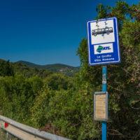 Das Netz der Haltestellen auf Elba ist sehr dicht