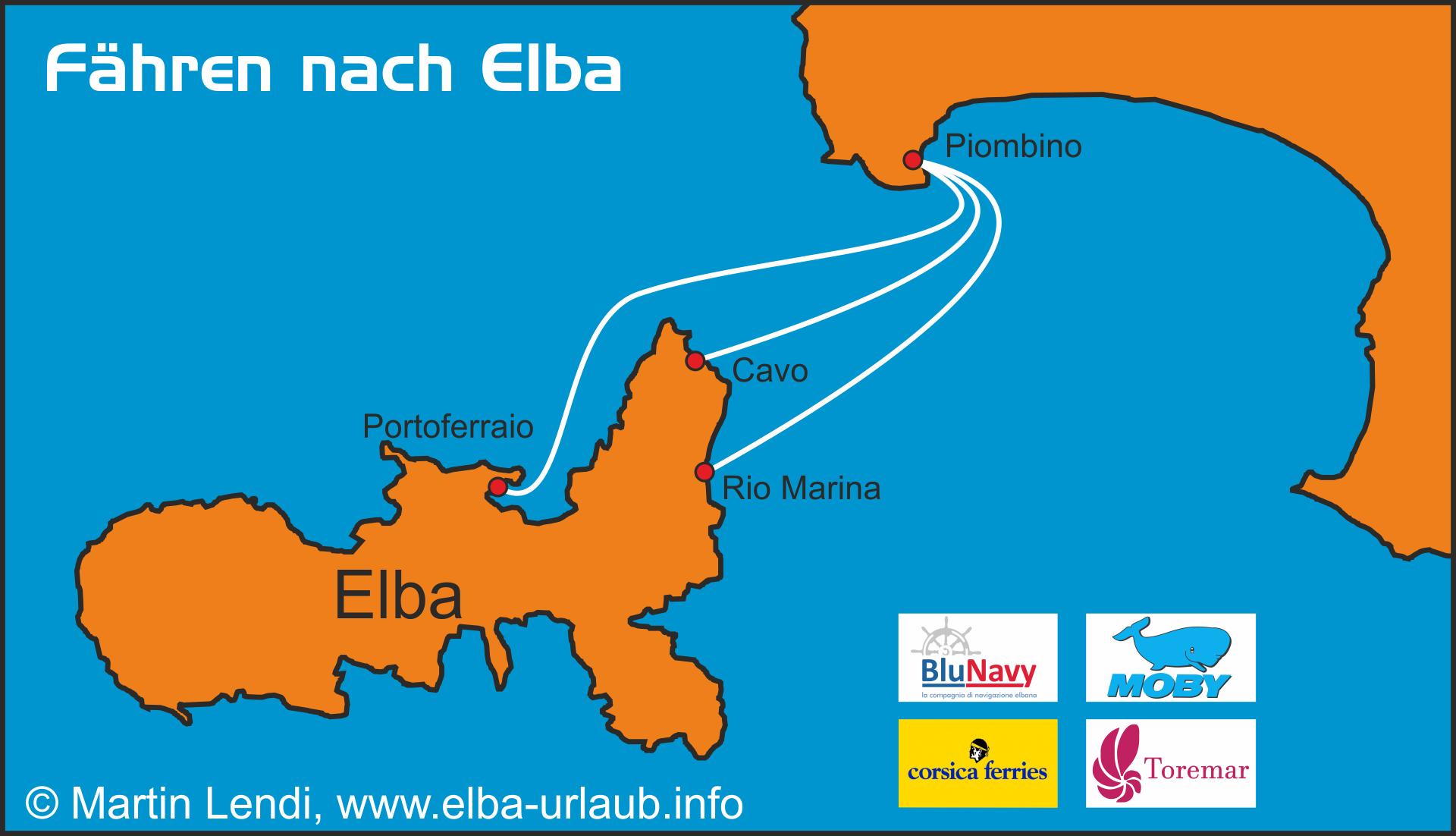 Insel Elba Karte.Fähre Nach Elba Insel Elba Der Grosse Reiseführer