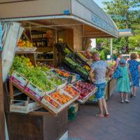 Gemüse- und Früchtestand in Procchio