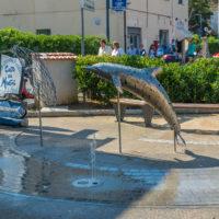 Delfin-Brunnen in Procchio