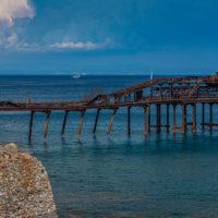 Rio Marina: Überreste der Verschiffungsanlage der Erze.